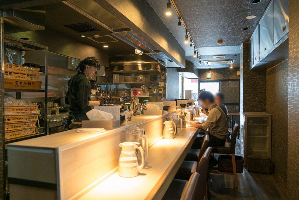 八王子 麺屋土竜(もぐら) 店内
