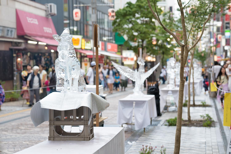 八王子まつり2017第34回夏季全国氷彫刻展