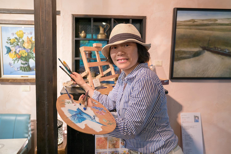 白川美紀 油彩テンペラ画展 -青い鳥はここにいる-
