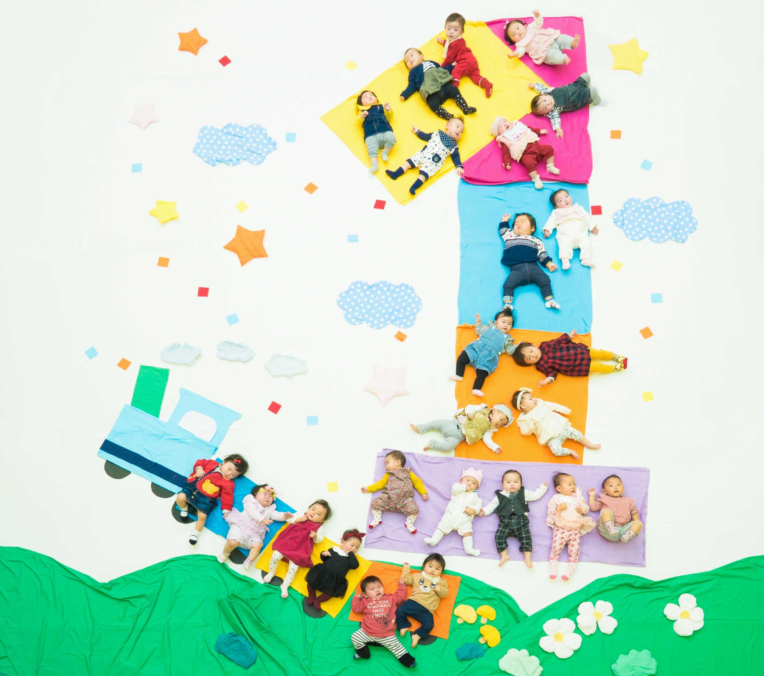 八王子市政100周年記念!!100人おひるねアートチャレンジ