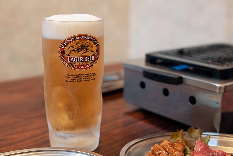焼肉 天神 八王子 ビール