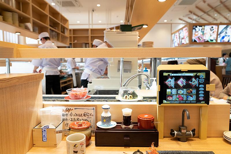 八王子OPA(オーパ) 金沢回転寿司 輝らり カウンター