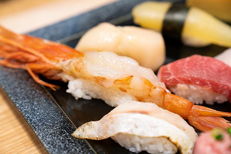 八王子OPA(オーパ) 金沢回転寿司 輝らり 日本海セット 赤海老