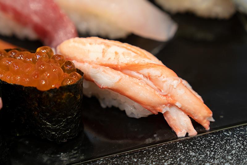 八王子OPA(オーパ) 金沢回転寿司 輝らり 日本海セット ずわいがに