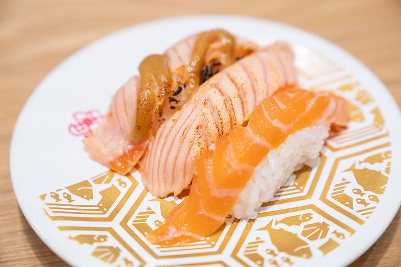 八王子OPA(オーパ) 金沢回転寿司 輝らり サーモンづくし