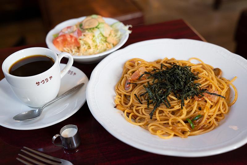 サクラヤコーヒー店 スパゲティーセット