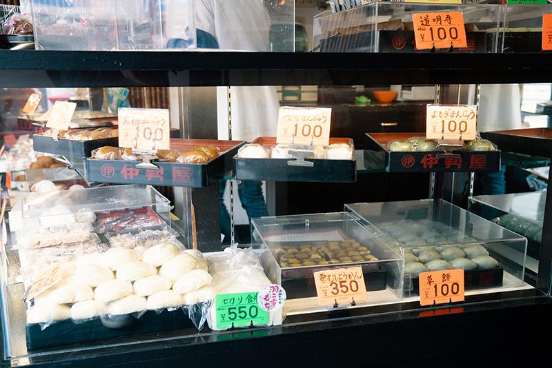 伊勢谷 本店 ショーケース 和菓子