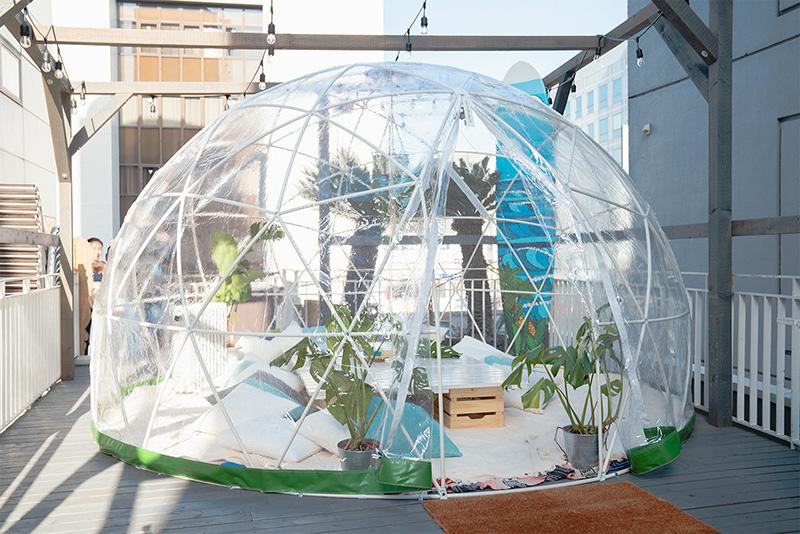 AINACAFE アイナカフェ 屋上 テラス席 Garden Igloo ガーデンイグルー
