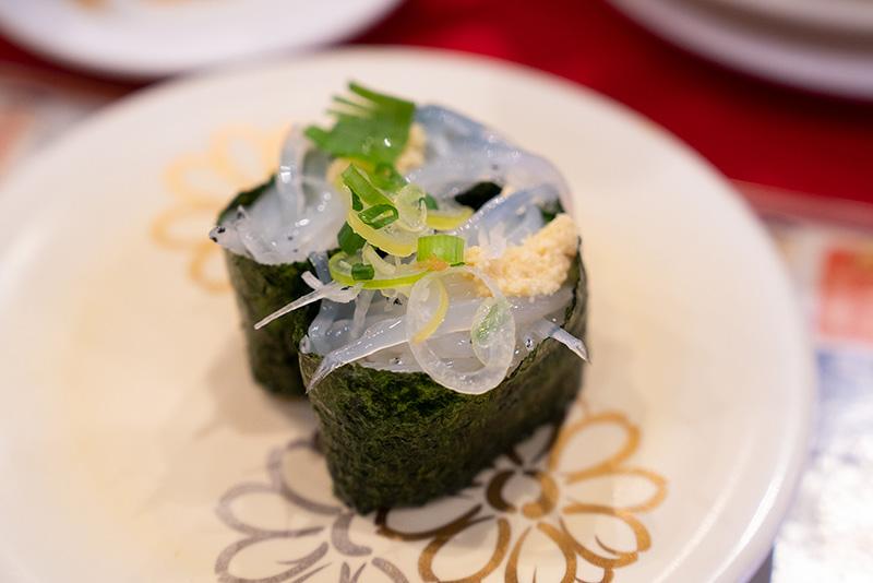回転寿司たいせい 白魚軍艦
