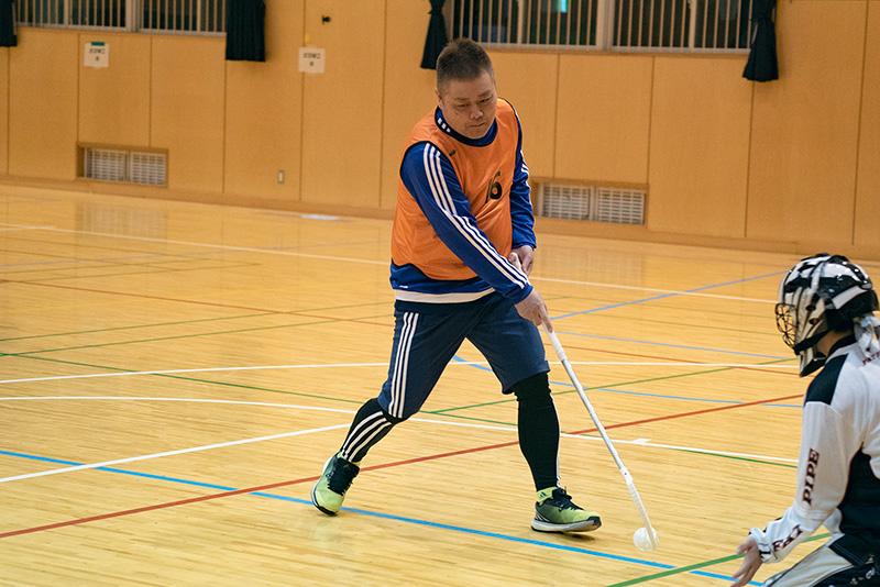 八王子フロアボールクラブ 練習 中村 代表