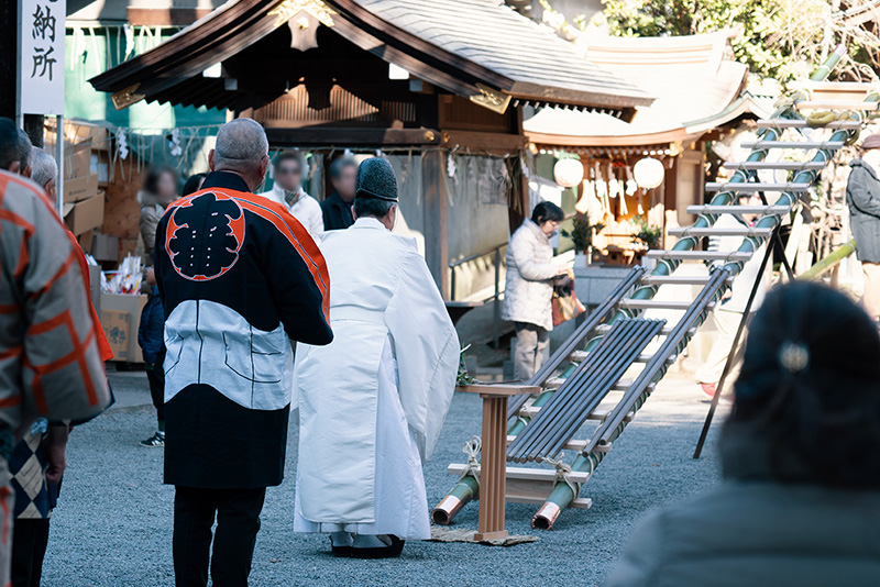 八王子 子安神社 八王子消防記念会 はしご奉納