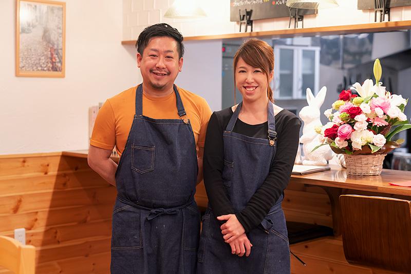 Cafe ENLARGE カフェ エンラージ 小笠原夫妻 シェフ