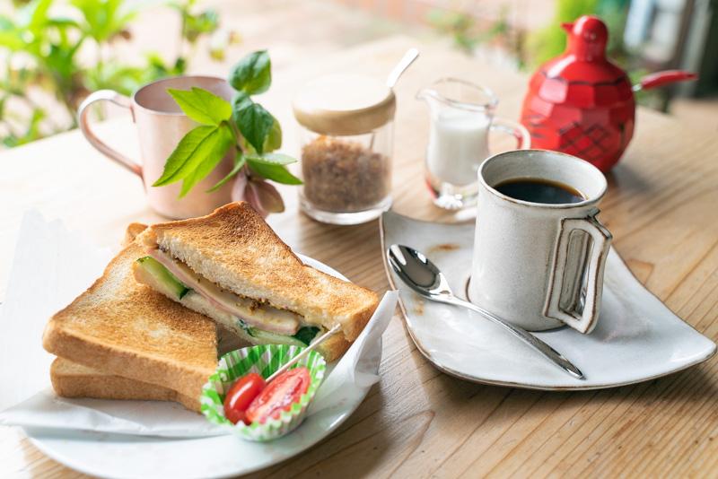 cafetearose ホットサンド ブレンドコーヒー