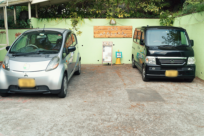 cafeMariposa カフェマリポーサ 外観 駐車場