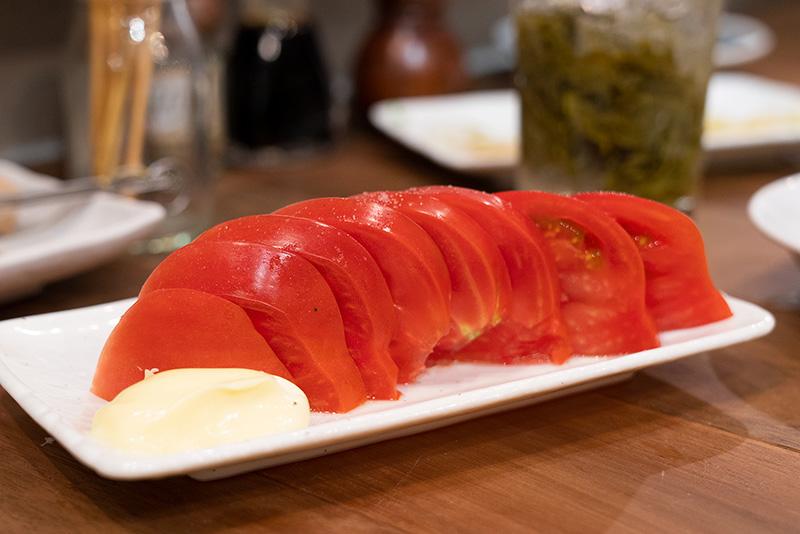 くしやき処月忠 げっちゅう 冷やしトマト