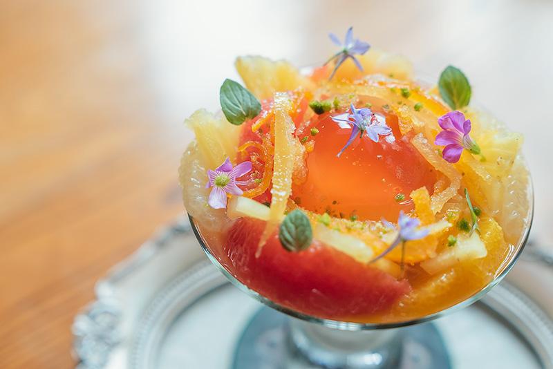 パペルブルグ 柑橘のパフェ