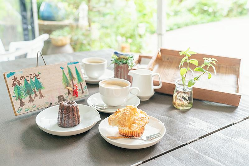 森のこびと カヌレ マフィン コーヒー