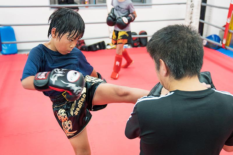 尚武会 八王子のキックボクシングジム練習風景