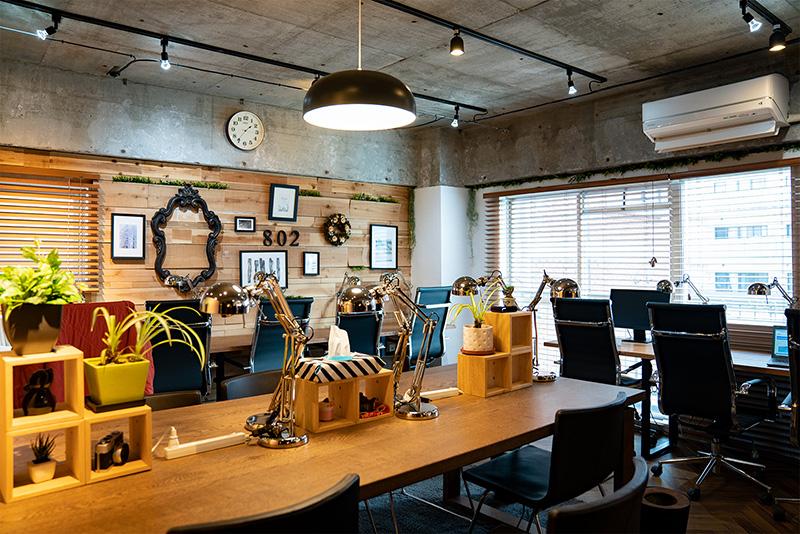 ビジネスラウンジ802|エリア内最安のおしゃれシェアオフィス