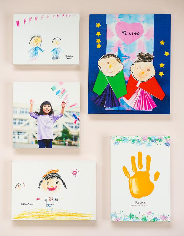 まるれ|子供が描いた絵がキャンバスアートに!!